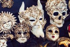 Masques vénitiens de carnaval Photographie stock libre de droits