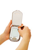 masquez l'écran de téléphone portable photo libre de droits