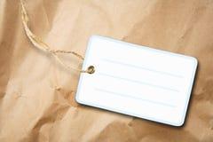 Masquez l'étiquette de empaquetage Photo stock