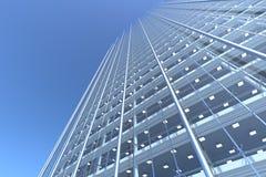 Masquez la façade en verre de l'immeuble de bureaux incurvé illustration de vecteur