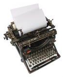 masquez la vieille machine à écrire de papier Images libres de droits