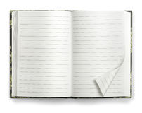 Masquez le cahier de papier ouvert Photos stock