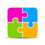Masquez le diagramme de puzzle de 4 parts Photo libre de droits