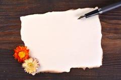 Masquez le papier brûlé bordé Photographie stock libre de droits