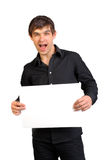 masquez le papier d'homme de fixation photos libres de droits