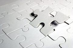 Masquez le puzzle denteux Photo libre de droits