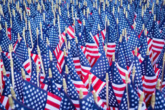 Mass of American Flags Stock Photos