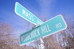 Mass avenue and Woodchuck hill Royalty Free Stock Photo