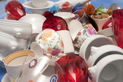 Mass of bright kitchen utensils Stock Photography