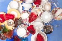 Mass of bright kitchen utensils Royalty Free Stock Photos