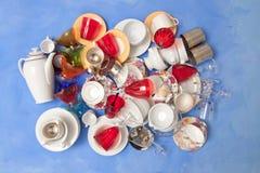 Mass of bright kitchen utensils Royalty Free Stock Photo