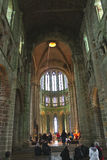Mass at Cathedral of the abbey of Mont Saint Michel. Stock Images
