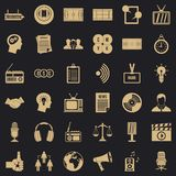 Mass communication icons set, simple style. Mass communication icons set. Simple set of 36 mass communication vector icons for web for any design stock illustration