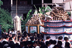 Mass cremation in Thailand Royalty Free Stock Images