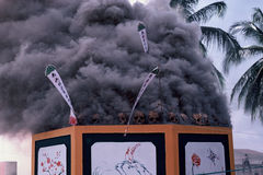 Mass cremation in Thailand Royalty Free Stock Image