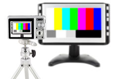 Mass digital compact camera isolated test Royalty Free Stock Photo