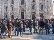 Mass at Duomo di Milano Stock Photo