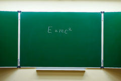 Mass-energy equivalence formula Stock Photography
