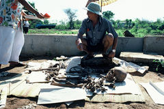 Mass Exhumation, Cremation in Thailand Royalty Free Stock Photography