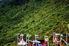 Mass för öppen luft i bergen i norden av ön av madeiran Royaltyfria Foton