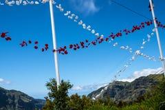 Mass för öppen luft i bergen i norden av ön av madeiran Fotografering för Bildbyråer