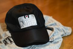 Mass Firearms School. One of the hats Mass Firearms School was handing out at its sponsored WRKO Town Hall event. 3-2-13 at WRKO Town Hall Event held at the WGBH Royalty Free Stock Images
