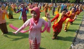 Mass gambyong dance Stock Photo