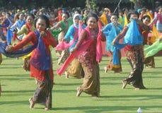 Mass gambyong dance Royalty Free Stock Photo
