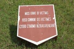 Mass grav av offer, Murambi Rwanda Arkivbilder