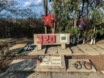 Mass grave of fighters of the 320th division in the Crimea Stock Photo