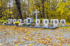 Mass grave of Polish soldiers on the Westerplatte, Poland Stock Images
