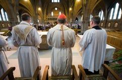 Mass i kyrka Royaltyfri Foto