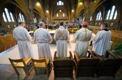 Mass In Church Stock Photo