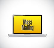 Mass mailing message on a laptop computer. Royalty Free Stock Photo