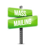 Mass mailing sign illustration design Royalty Free Stock Photos