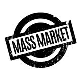 Mass Market rubber stamp. Grunge design with dust scratches. Effects can be easily removed for a clean, crisp look. Color is easily changed royalty free illustration