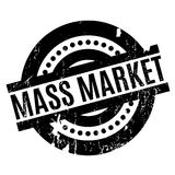 Mass Market rubber stamp. Grunge design with dust scratches. Effects can be easily removed for a clean, crisp look. Color is easily changed stock illustration