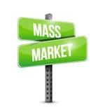 Mass market street sign illustration design Stock Images