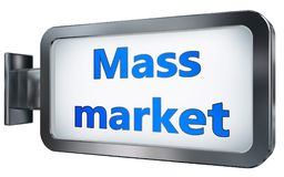 Mass market on billboard background. Mass market wall light box billboard background , isolated on white vector illustration