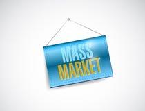 Mass marketing hanging illustration design. Mass marketing hanging tablet illustration design over a white background royalty free illustration