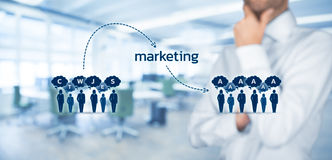 Mass marketing impact. And influence concept. Marketing is the way how to change thinking of customers and clients stock photos