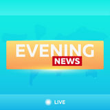 Mass media. Evening news. Breaking news banner. Live. Television studio. TV show. Royalty Free Stock Photos