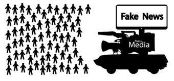Mass media fake news, information war. Mass media fake news, information war vector illustration