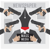 Mass Media Is The Hostage Royalty Free Stock Photos