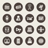 Mass media icon set Royalty Free Stock Photography