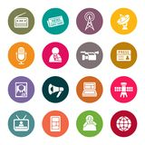 Mass media icon set. Vector Illustration Stock Images