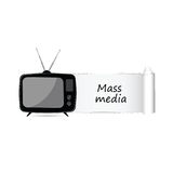Mass media icon vector. Illustration Royalty Free Stock Images