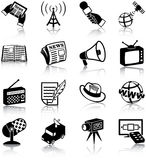 Mass media icons Stock Photography