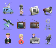 Mass Media Icons Set stock illustration