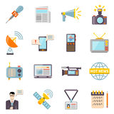 Mass Media Icons Set Stock Photography